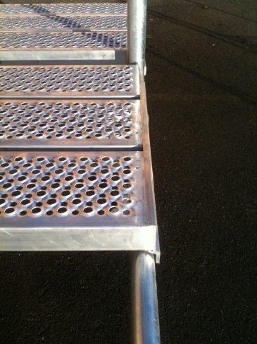 Aluminium labank-lem som stillasgulv